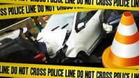 Ilustrasi Kecelakaan Beruntun (Liputan6.com/Johan Fatzry)