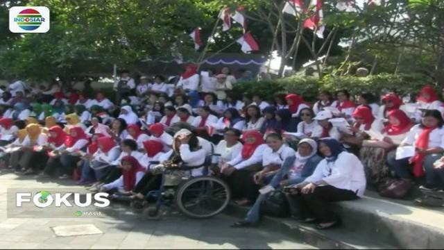 Ratusan perempuan di Yogyakarta deklarikan dukungan untuk pasangan Jokowi-Ma'ruf Amin.