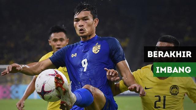 Pertandingan antara Malaysia Vs Thailand pada leg pertama semifinal Piala AFF 2018 berakhir imbang 0-0.