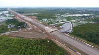 Proyek tol Trans Sumatera Palembang-Indralaya (Foto: Dok BPJT Kementeriann PUPR)