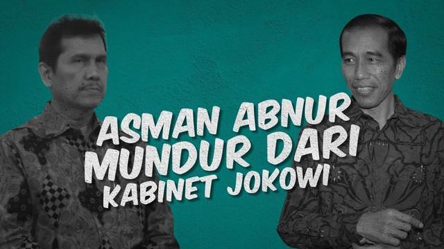 Meski perombakan belum terjadi, Menteri Pendayagunaan Aparatur Negara dan Reformasi Birokrasi (Menpan RB) Asman Abnur mengajukan pengunduran diri ke Jokowi.