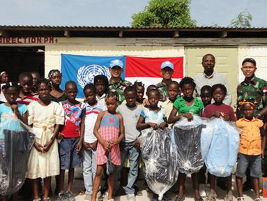 Citizen6, Haiti: Kepala sekolah, Jean Baptiste Aqilus menyampaikan ucapan terima kasih dan apresiasi yang sangat tinggi kepada Indonesia yang telah hadir dan memberikan bantuan ke sekolah mereka. (Pengirim: Badarudin Bakri)