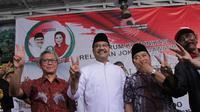 Elektabilitas Saifullah Yusuf (Gus Ipul)-Puti Soekarno melampaui elektabilitas Khofifah Indar Parawansa-Emil Elistianto Dardak.
