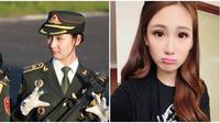Men Jiahui adalah seorang mantan model yang jadi tentara di salah satu partai di Tiongkok. (Sumber: Mothership)