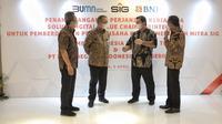 BNI berikan layanan solusi transaksional terintegrasi yang unggul melalui fasilitas pembiayaan value chain kepada Semen Indonesia. (Foto: Dok Istimewa)