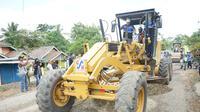 Pembangunan infrastruktur di Kabupaten Musi Rawas Sumsel (Dok. Humas Pemprov Sumsel / Nefri Inge)