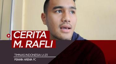 Berita video cerita pemain Arema FC, M. Rafli yang sempat tampil impresif bersama Timnas Indonesia U-23. Apakah ada latihan khusus baginya?