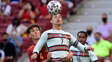 Foto Piala Eropa: Skor Kacamata, Duel Imbang Spanyol dan Portugal dalam Uji Coba Pertandingan Menjelang Euro 2020