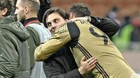 Vincenzo Montella merasa lega setelah Gianluigi Donnarumma memutuskan bertahan di AC Milan. (doc. AC Milan)