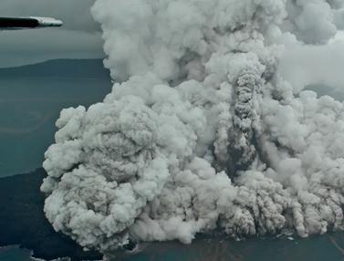 Begini Penampakan Erupsi Gunung Anak Krakatau