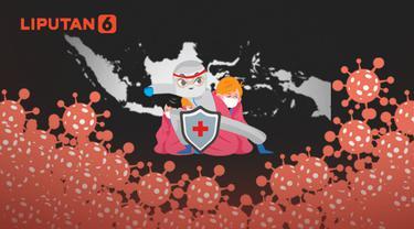Ilustrasi Indonesia dilanda pandemi Covid-19 selama 2020 (Liputan6.com / Abdillah)