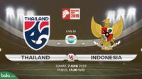 Merlion Cup: Thailand vs Indonesia. (Bola.com/Dody Iryawan)