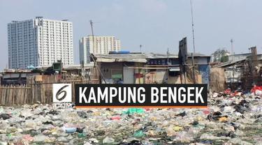 Viral di media sosial soal sampah yang berserakan di Kampung Bengek, Penjaringan, Jakarta Utara. Tumpukan sampah masih terlihat pada Selasa (3/9/2019).