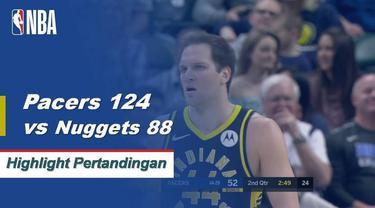 Bojan Bogdanovic mencetak 35 poin saat Pacers mengalahkan Nuggets 124-88. | 03/24/2019