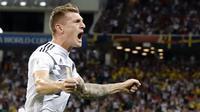 5. Berkat gol dramatis Toni Kroos di masa injury time, Jerman bisa mengalahkan Swedia dan membuka peluang ke babak 16 besar. (AP/Frank Augstein)