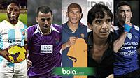 Jacksen F Tiago, Carlos de Mello, Toyo Claudio, Luciano Leandro, Cristian Gonzales (Bola.com/Samsul Hadi)
