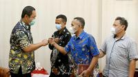 Sejumlah eks narapidana kasus terorisme (napiter) diundang ke kantor Wali Kota Semarang, Hendrar Prihadi di Balaikota Semarang, pada Kamis (22/4).