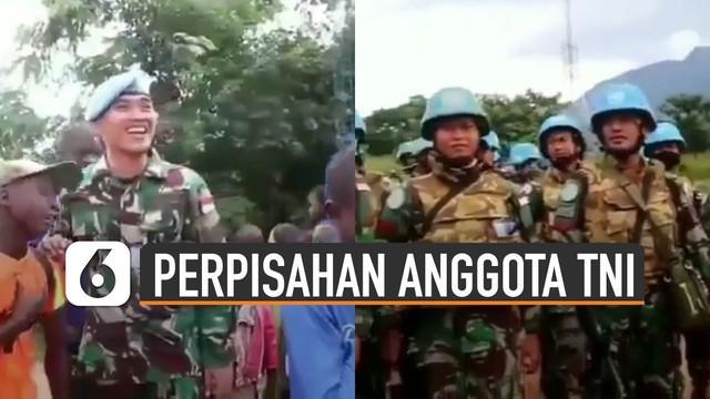 Beredar video anak-anak di Kongo menangis sesenggukan karena akan ditinggal anggota TNI pulang ke Indonesia.