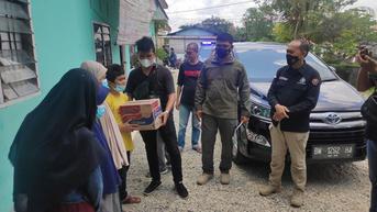 Aksi Wartawan di Riau Bersama Polisi Bantu Ringankan Beban Warga Terdampak Covid-19