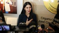 Sandra Dewi (Preskon Kelahiran) (Deki Prayoga/bintang.com)