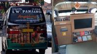 angkot dengan fasilitas mewah (foto: Facebook Rina Yullie)