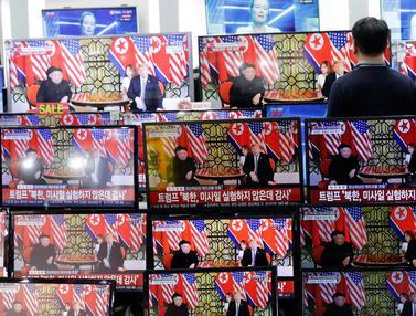 Antusiasme Warga Dunia Saksikan Pertemuan Trump-Kim Jong-un