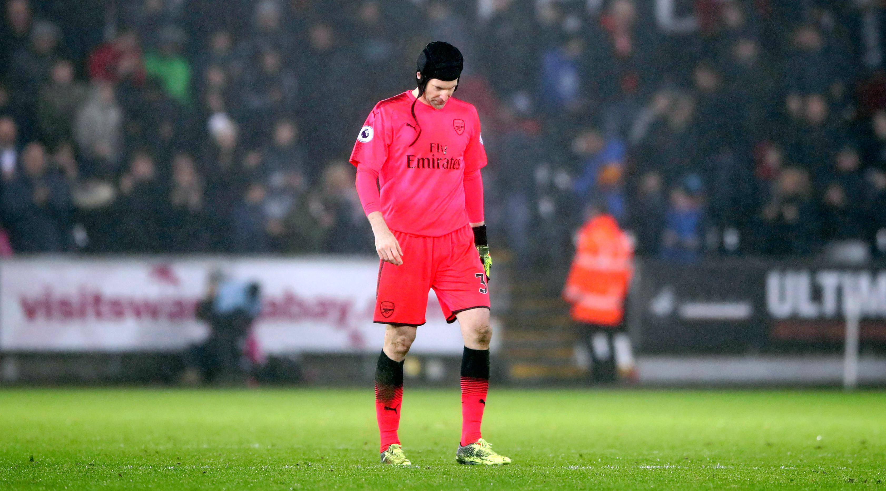 Kiper Arsenal, Petr Cech (Nick Potts/PA via AP)