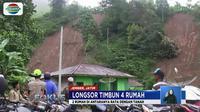 Warga sempat mendengar suara gemuruh sebelum longsor menimpa rumah sehingga membuat panik warga sekitar.