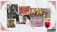 Kolase - Ilustrasi Tionghoa di PSM Makassar (Bola.com/Adreanus Titus/Foto: Abdi Satria)