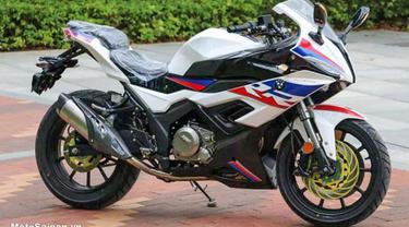 Merek Motor Cina Ini Bikin Jiplakan BMW S1000RR (Visordown)