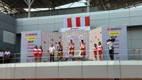 Lucky Hendriansya dari AHRT menjuarai race 1 ARRC 2019 kelas AP250 (Liputan6.com/thomas)