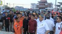 Menko Polhukam Wiranto meninjau kondisi Palu usai gempa dan tsunami. (dok Kemenko Polhukam)