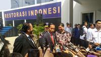 Presiden Jokowi saat menghadiri Akademi Bela Negara (ABN) Nasdem. (Liputan6.com/Putu Merta Surya Putra)