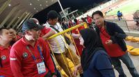 Mochamad Iriawan, Ketua Umum PSSI, saat berada di Binan Football Stadium untuk mendukung Timnas Indonesia U-22 di SEA Games 2019. (Bola.com/Zulfirdaus Harahap)