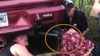 Gadis 19 Tahun Iseng Coba Memasukan Kepala Ke Knalpot Truk (Sumber: Facebook @billy Little)