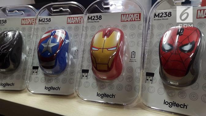 Logitech edisi superhero Marvel. Liputan6.com/ Yuslianson