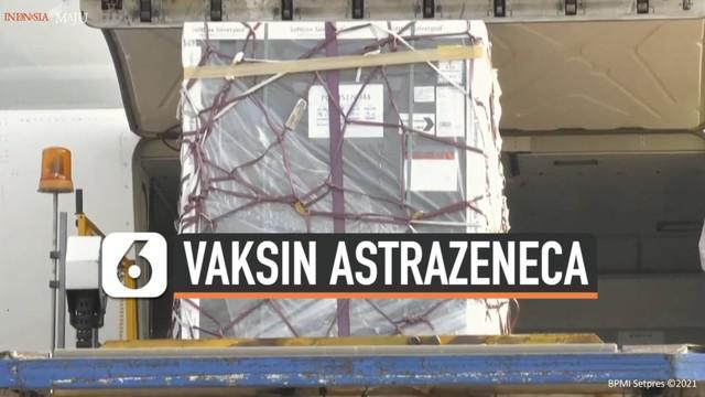 Indonesia terima 1,3 juta dosis vaksin AstraZeneca melalui jalur multilateral Covax Facility. Vaksin tiba tiba di Bandara Soekarno-Hatta pada Sabtu (8/5) pagi.