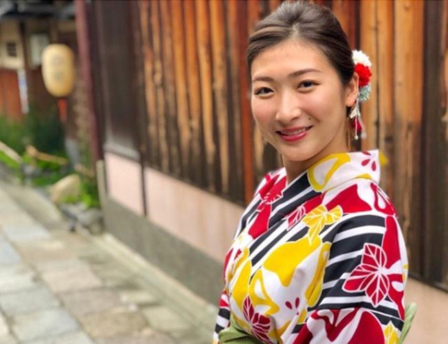 Rikako yang cantik dengan baju khas Jepang/instagram.com/ikee.rikako