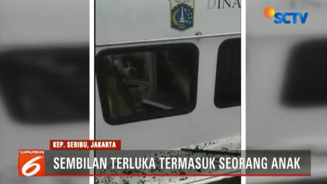 Sebuah kapal milik Dinas Perhubungan (Dishub) DKI Jakarta meledak di perairan Pulau Panggang, Kepulauan Seribu.