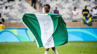 Gelandang Chelsea John Obi Mikel saat membela Nigeri pada Olimpiade 2016 Rio de Janiero. (AFP/Gustavo Andrade)
