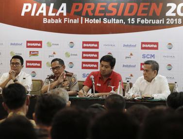 Konferensi Pers Jelang Final Piala Presiden 2018