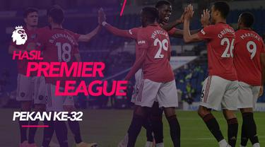 Berita motion grafis hasil Premier League 2019-2020 pekan ke-32. Manchester United dan Mancester City menang telak atas lawannya.