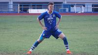 Gelandang Persib Bandung Rene Mihelic terkesan dengan laga tandang pertamanya. (Huyogo Simbolon)