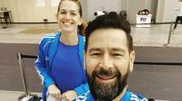 Atlet anggar asal Argentina itu dilamar saat wawancara dengan media setelah bertanding di Olimpiade Tokyo 2020.  (dok. Instagram @belenperezmaurice/https://www.instagram.com/p/CMXU82_hqfQ/)