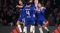 Eden Hazard mencetak dua gol saat Chelsea bermain imbang dengan AS Roma. (doc. Chelsea)