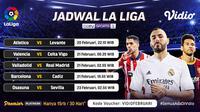 Pertandingan Liga Spanyol pekan ke-24 dapat disaksikan melalui platform Vidio. (Dok. Vidio)