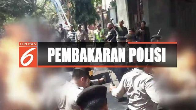 Sebanyak 31 mahasiswa diperiksa polisi terkait pembakaran polisi saat unjuk rasa di Cianjur, Jawa Barat.