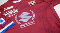 Torino mengenakan seragam khusus khas Suzuki menandai keberhasilan Joan Mir jadi juara dunia MotoGP 2020. (Dok MotoGP)