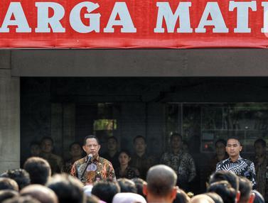Tito Karnavian Pimpin Apel Perdana di Kemendagri