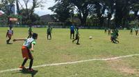 Milo Football Championship di Makassar berlangsung 28-29 April 2018. (Liputan6.com/Adyaksa Vidi)